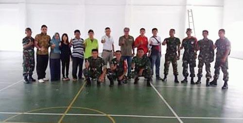 Kekompakan tim Korem 131/Santiago dan BKKBN Sulut.