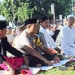 Sholat Ied Di Lapangan Polres Minsel Dihadiri Ratusan Umat Muslim