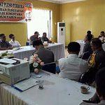 Rapat Koordinasi Bersama Komisioner KPUD Mitra Dipimpin Kapolres Minsel