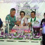 Wabup Wongkar Hadiri Ibadah HUT GMIM Sion Raanan Baru Ke-123