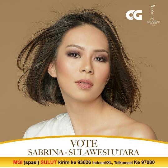 Cara SMS Vote bagi Sabrina Malik di Pemilihan Miss Grand Indonesia.(Foto: ist)