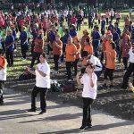 Meriahkan HUT ke-50 BPJS Kesehatan, 60 Klub Prolanis Senam Bersama di Manado