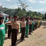 Sambut HUT RI, Anak-anak Desa Pangea Antusias Dilatih Satgas TMMD