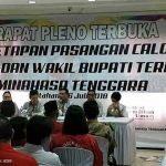 Libatkan 170 Personil, Polres Minsel Amankan Rapat Pleno Penetapan Paslon Bupati Mitra Terpilih