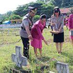 Rayakan Hari Bhayangkara ke- 72, Jajaran Polres Minsel  Ziarahke TMP Amurang