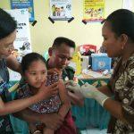 Kodim 1312/Talaud Bantu Program Imunisasi Campak dan Rubella