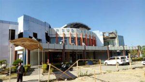 Kondisi bangunan RSUD Tanjung di Kabupaten Lombok Utara.(Foto: Hanna Monareh for SulutAktual.com)