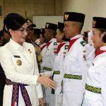 Pengukuhan 31 Anggota Paskibraka Kabupaten Minsel Tahun 2018