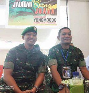 Kasi Ops Korem 131/Santiago Kolonel Inf David Hasibuan (kanan) yang juga Ketua Racing Committee, bersama Wakapendam XIII/Merdeka Letkol Inf Vipy Amuranto saat memantau jalannya pertandingan.