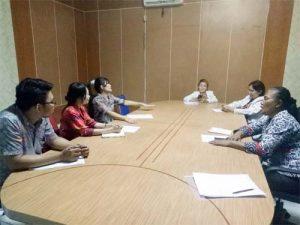 Rapat persiapan dipimpin Ketua Panitia dr Lenny Liando SpKJ, di ruang rapat RSJ Ratumbuysang, Kamis (13/9/2018).
