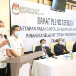 KPU Minsel Gelar Pleno Terbuka Tetapkan FDW-PYR Calon Bupati dan Wakil Bupati Terpilih