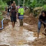 Ruas Jalan Nasional di Kampung Belengan Kembali Tertimbun Longsor
