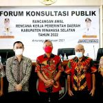 Wabup FDW Buka Kegiatan Forum Konsultasi Publik RA-RKPD Pemkab Minsel 2022